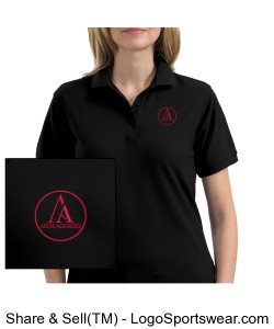 Black Ladies Polo Design Zoom