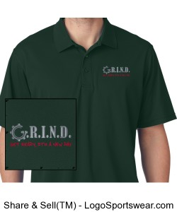 G.R.I.N.D. Mens Polo - Forest Design Zoom