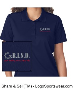 G.R.I.N.D. Ladies Polo - Navy Design Zoom